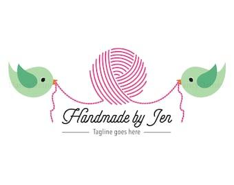 Crochet logo - Yarn logo - Handmade shop logo - Knit logo - yarn shop logo - handmade logo - premade yarn logo - boutique logo - logo design