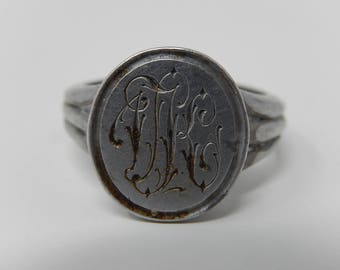 Old Pewter Ring, Free Shipping!