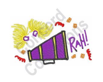 Megaphone - Machine Embroidery Design, Cheerleader