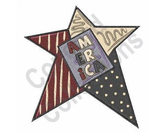 American Star - Machine Embroidery Design
