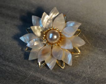 Vintage, Mother of pearl Pin-Brooch