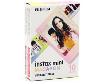 Fujifilm Instax Mini Film Macaron - For Instax Mini 7, 8, 8+, 25, 50, 70, 90, SP-1, SP-2 Polaroid PIC 300