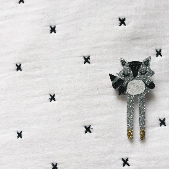 Malo - Raccoon - brooch - Brooch - Handmade - La Rochelle