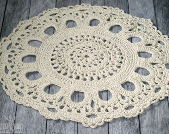 Crochet cotton rugs handmade