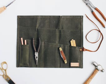 Waxed Canvas Tool/Utility Roll - Field Work Co.