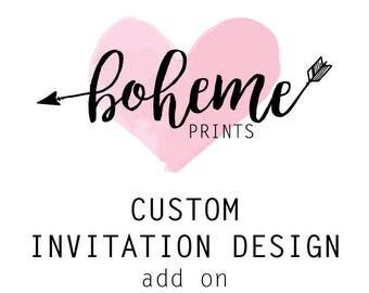 Custom Invitations Custom Invitation Design Bespoke Invitation Wedding Invitations Party Invitation Unique Invitations Digital Download File