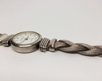 Elegant Braided Sterling Watch 7.5 inches