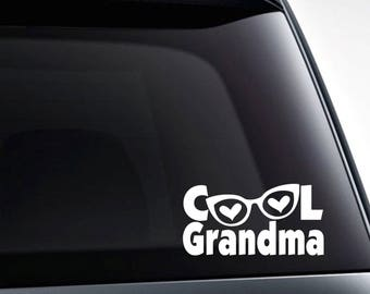 Cool Grandma die cut vinyl decal sticker for cars, laptops, tumblers and more