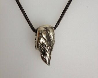 Silver pendant raven Lug