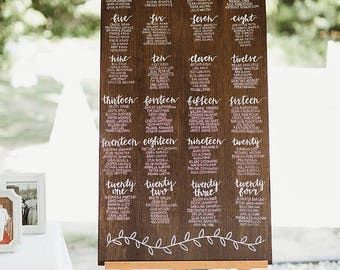Wedding Seating Chart <100 guests