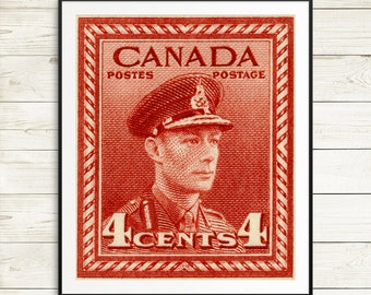 King George 6, King George VI, Canada stamps, Canadian stamps, Canada post, postage stamps, rare postage stamps, Canada wall art, art prints