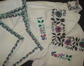 Ukrainian vintage blouse sorochka vyshivanka vyshyvanka etno Vinnitsa Ukraine hand embroidered