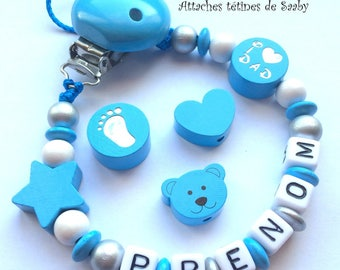 Pacifier clip customize 2 patterns to choose from