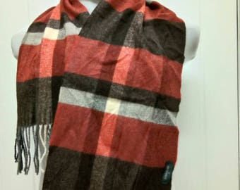Rare Vintage TRUSSARDI Scarves Made In Italy 100% Wool
