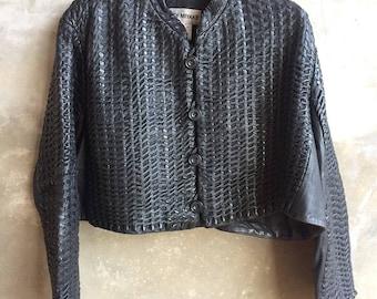 Vintage Mega Rare Issey Miyake Women Deer Leather Jacket Size XS