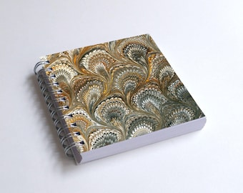 "Notebook 4x4"" decorated with motifs of marbled papers - 32"