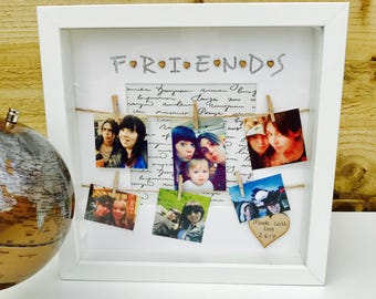 Friends Frame, Special Best Friends Gift, Personalised Friends Photo Frame, Gift for Friend, Family Gift, Friends Frame, Friends Box Frame