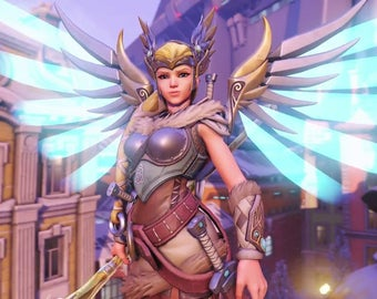 Valkyrie Mercy wings Overwatch cosplay prop