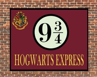 Metal Sign HOGWARTS EXPRESS Geek Harry Potter Dumbledore Sirius Black Severus Snape Christmas Gift Present