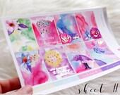 Rainy Days Foiled Sticker Kit, Weekly Sticker Kit, Planner Stickers, Spring Foiled Sticker Kit, Foiled Stickers