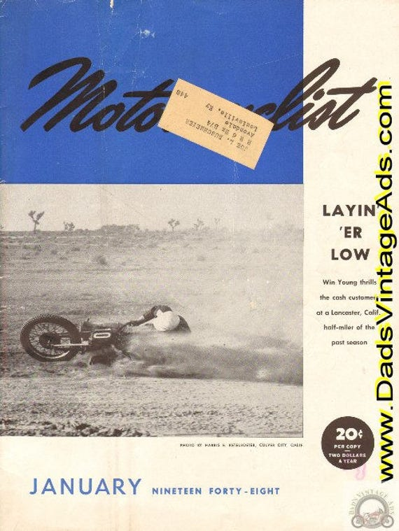 1948 January Motorcyclist Motorcycle Magazine Back Issue #4801mc