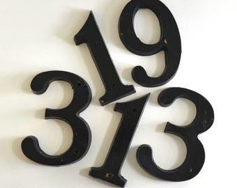vintage industrial house numbers large black numbers