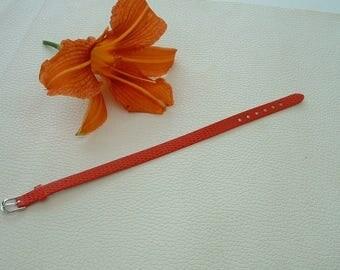 FAUX leather lizard red 22cm width 8 mm bracelet