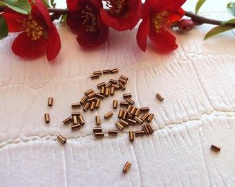 TOHO 3mm colored BUGLE beads 5G sachet BRONZE