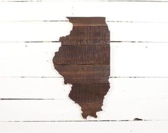 Illinois Pallet Art Wall Hanging