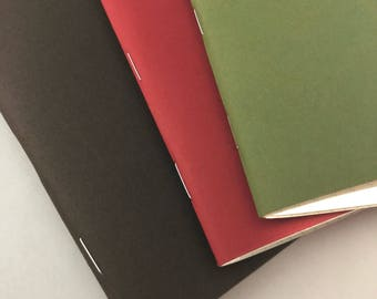 Pocket Notebooks Green/Red/Brown