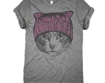 Pussyhat Women's Shirt - Pussycat Pink Hat Shirt - Nasty Women Shirt