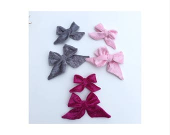Velvet sailor bow, nylon headband, hair clip