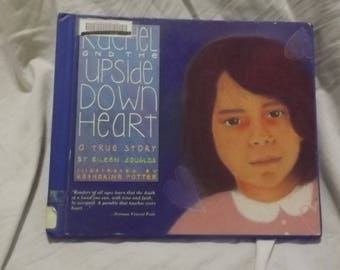 1990 ** Rachel and the Upside Down Heart ** ex library book ** Eileen Douglas** sj