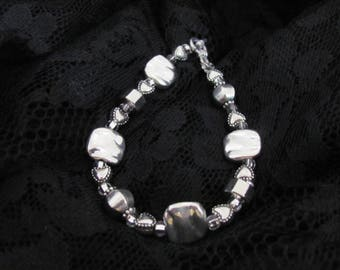 tibetan silver and clear glass
