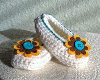 Crochet Baby Booties, Baby Shoes, Crib Shoes