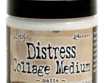 Tim Holtz Distress Collage Medium Matte - Collage Medium - Ranger Collage Medium Vintage - Gel Medium - Tim Holtz - Collage Gel Medium Matte
