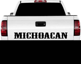 Michoacan Mexico Truck Decal Sticker Tailgate for Chevy Silverado GMC Sierra 90's