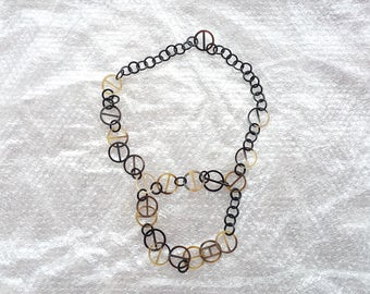 Buffalo Horn Chains Necklace QG34
