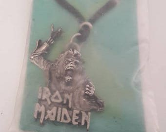 "Iron Maiden ""No Prayer for the Dying"" early 90s Necklace NEW & SEALED Heavy Metal King Diamond Judas Priest"