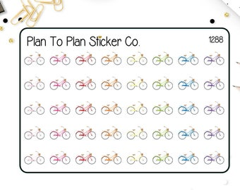 1288~~Bicycle Bike Planner Stickers.