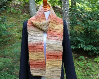 Chunky Fall Scarf, Crochet Fall Scarf, Winter Accessory, Fashion Accessory, Crochet Scarf, Women's Scarf, Long Scarf, Neckwarmer