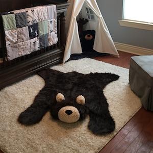 Nursery Rug Bear Rug Woodland Nursery Baby Room Decor