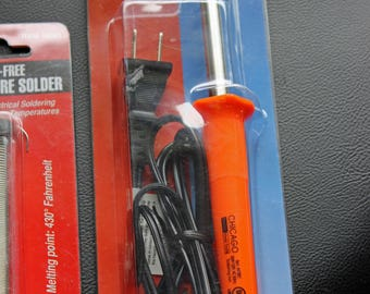 Soldering Iron And Solder Chicago Electric 30W Soldering Iron Lead-Free Rosin Core Solder New Condition Original Packaging