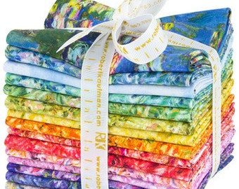 Claude Monet by Studio RK Fat Quarter Bundle for Robert Kaufman Fabrics Pre-order with FREE SHIPPING