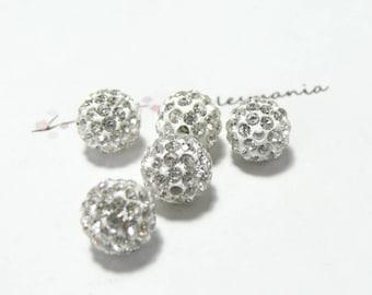 10 pearls 10mm white silver quality shambala