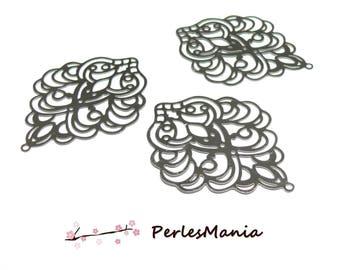 2 prints ART new 50mm silver pendant Platinum S1172557 stainless steel