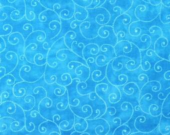 "Moda Basics ""MARBLE SWIRLS""  ~ 9908-38 Robins Egg ~ Tonal Turquoise with Swirls ~ Half Yard Increments"