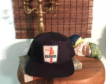 Stranger Things Eleven parody trucker hat
