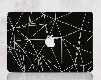 Laptop Case Black Geometry Macbook Cover Apple Pro Hard 15 13 Inch Macbook Case Air Case Pro Retina 15 13 Laptop Protective Case mRR039