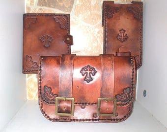 vintage style leather belt bag